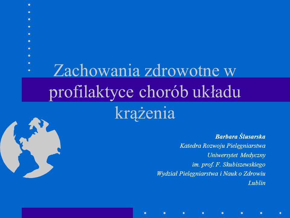 Zachowania zdrowotne w profilaktyce chorób układu krążenia