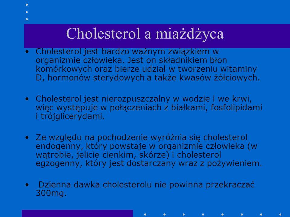 Cholesterol a miażdżyca