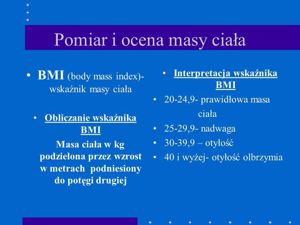 Pomiar i ocena masy ciała