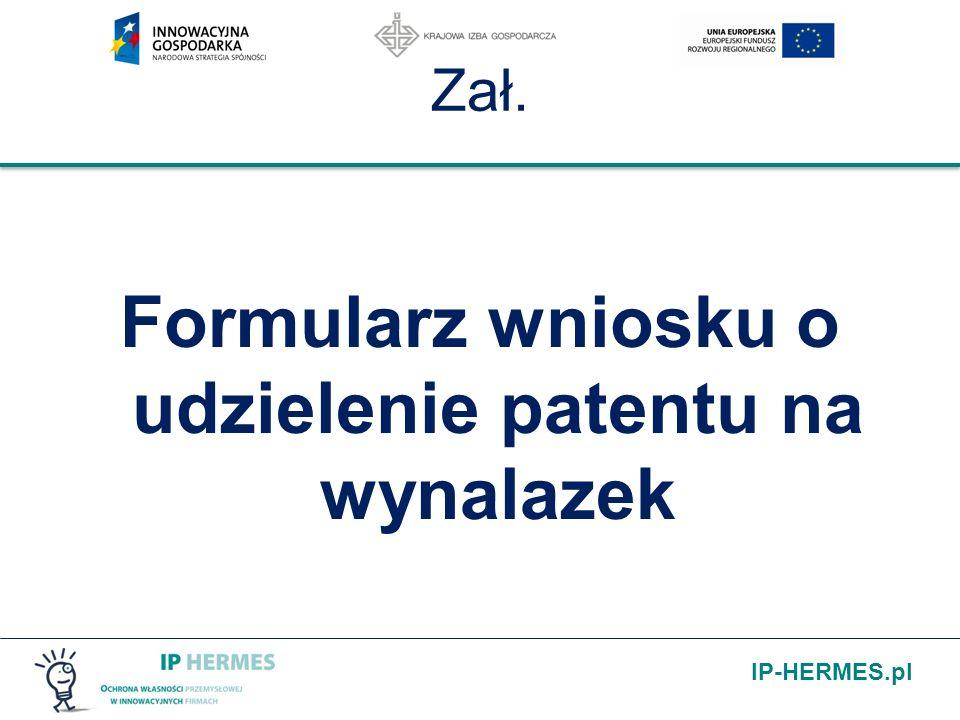 Formularz wniosku o udzielenie patentu na wynalazek