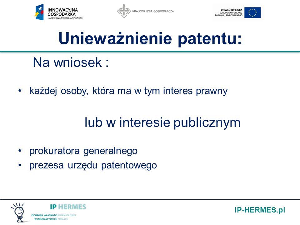 Unieważnienie patentu: