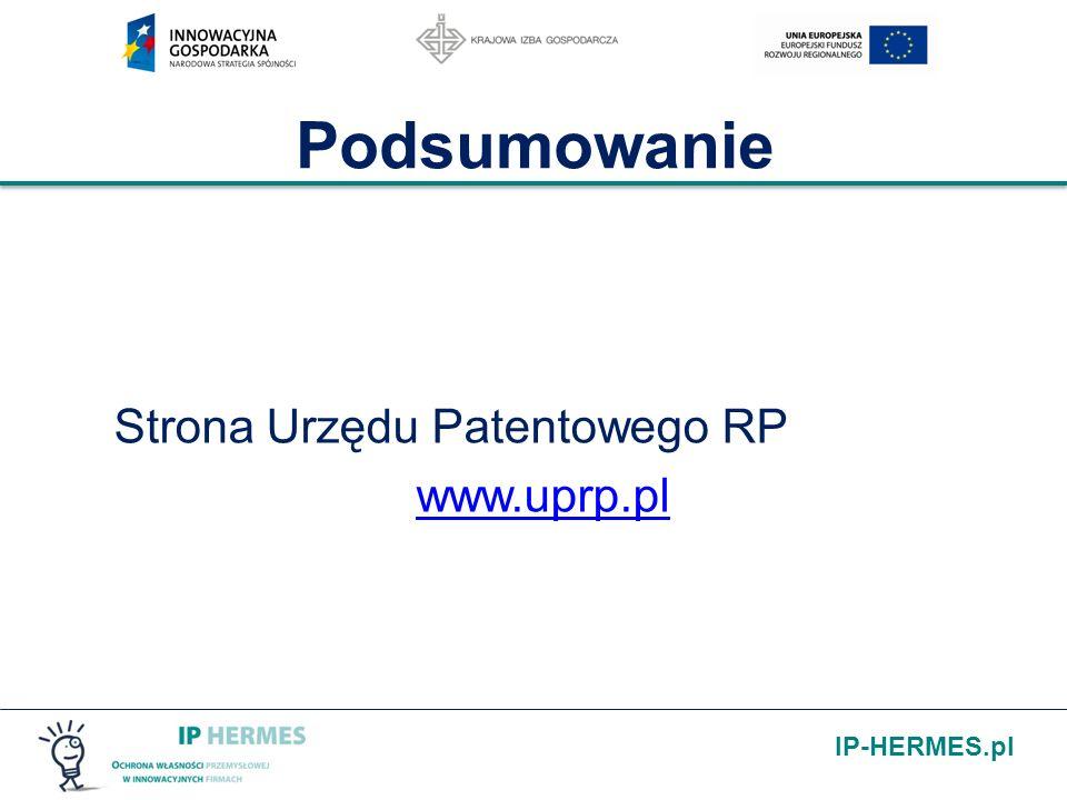 Podsumowanie Strona Urzędu Patentowego RP www.uprp.pl