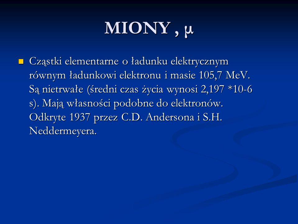 MIONY , μ