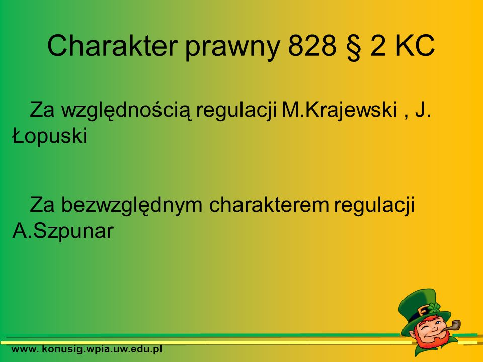 Za względnością regulacji M.Krajewski , J. Łopuski