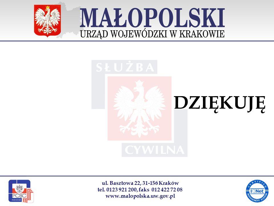 DZIĘKUJĘ ul. Basztowa 22, 31-156 Kraków tel.