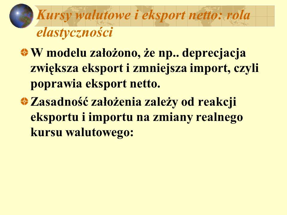 Kursy walutowe i eksport netto: rola elastyczności