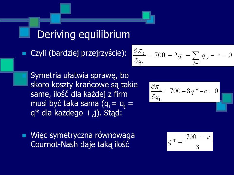 Deriving equilibrium Czyli (bardziej przejrzyście):