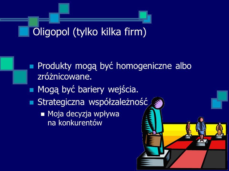 Oligopol (tylko kilka firm)