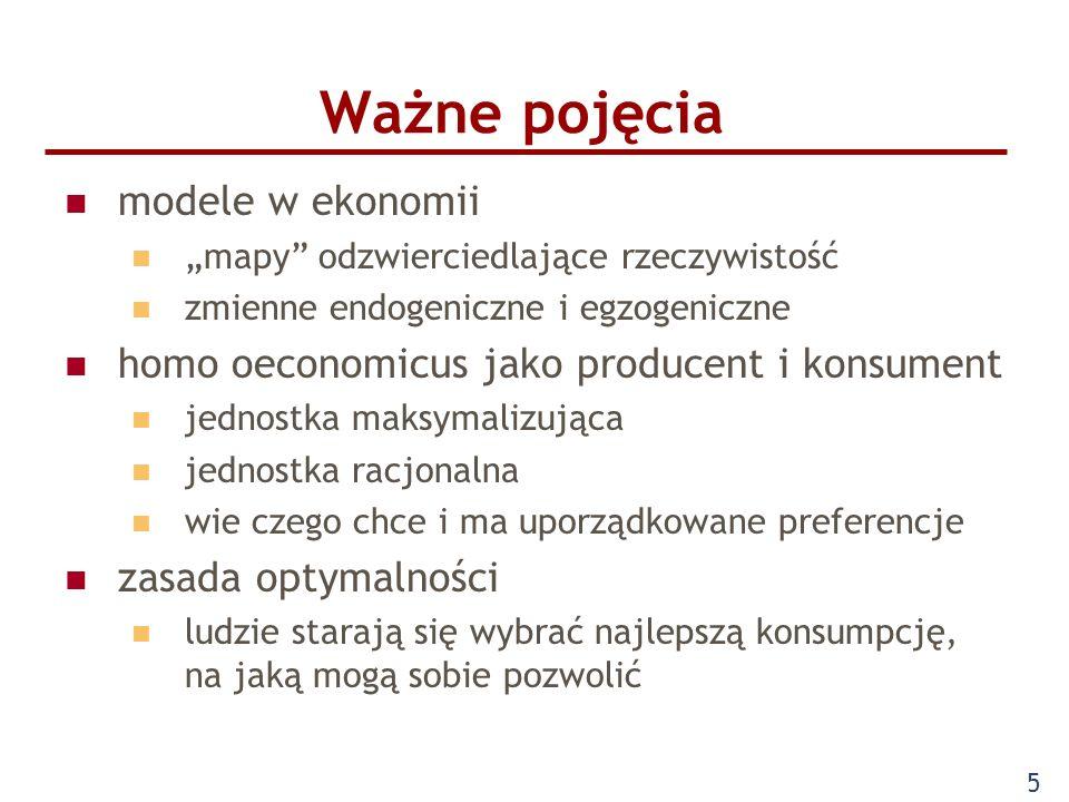 Ważne pojęcia modele w ekonomii