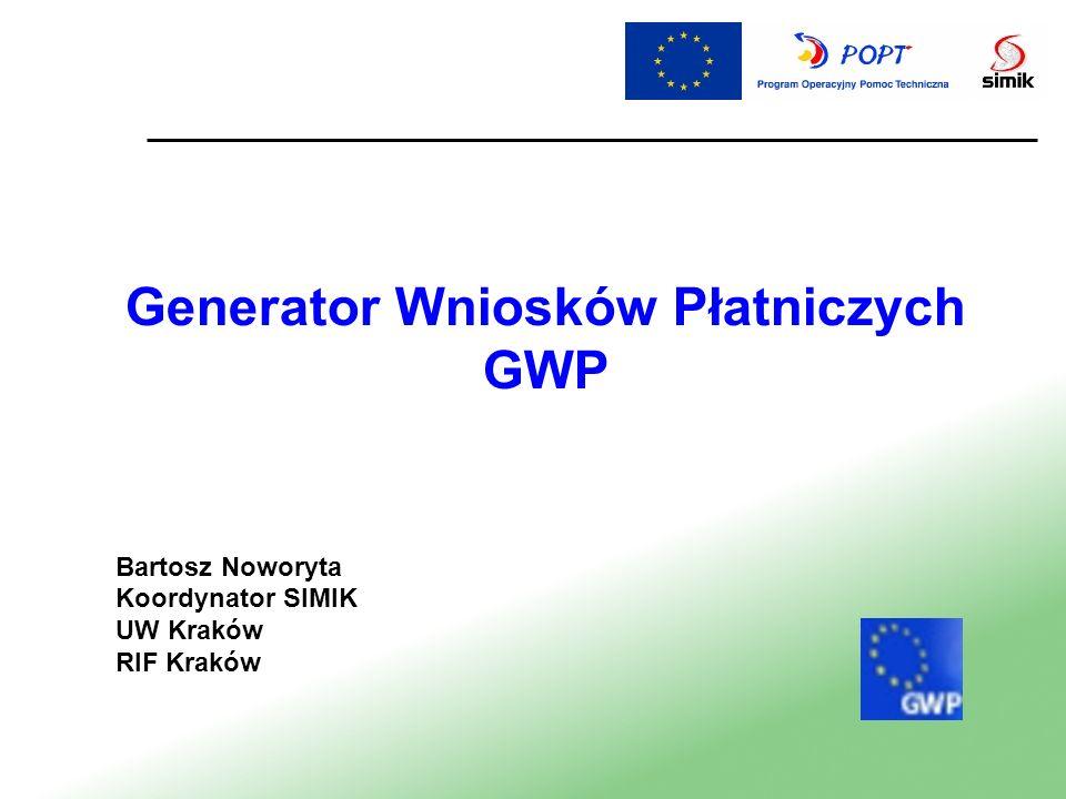Generator Wniosków Płatniczych GWP