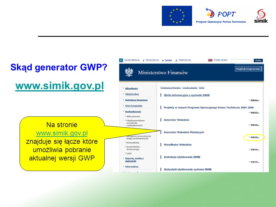 www.simik.gov.pl Skąd generator GWP