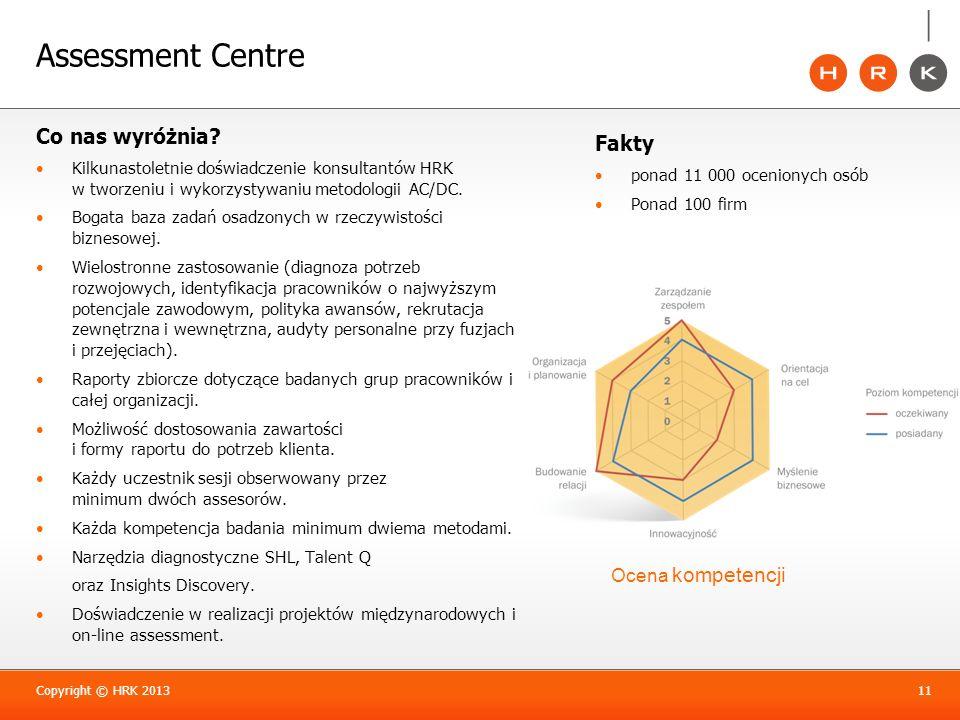 Assessment Centre Co nas wyróżnia Fakty Ocena kompetencji