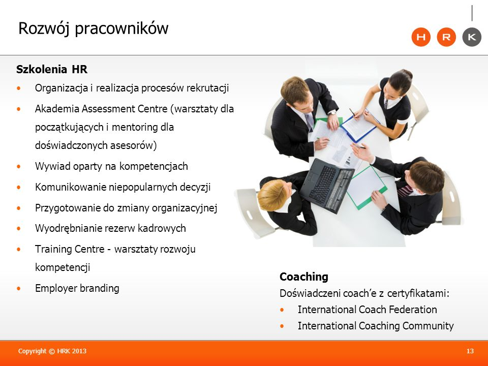 Rozwój pracowników Szkolenia HR Coaching