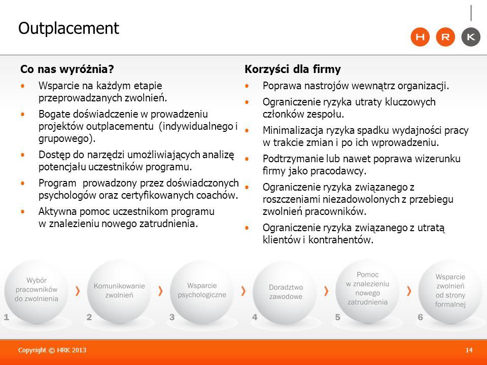 Outplacement Co nas wyróżnia Korzyści dla firmy