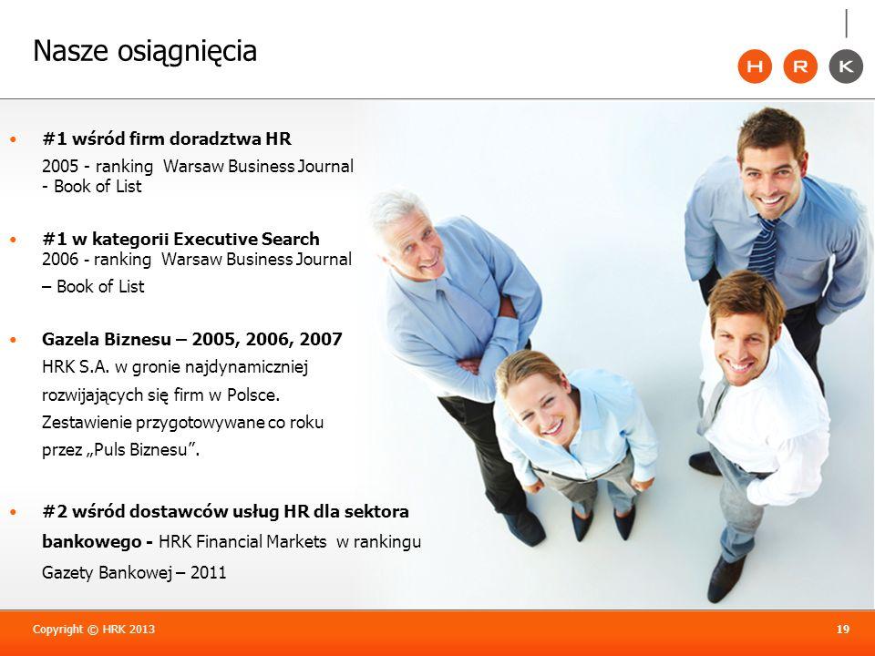 Nasze osiągnięcia #1 wśród firm doradztwa HR