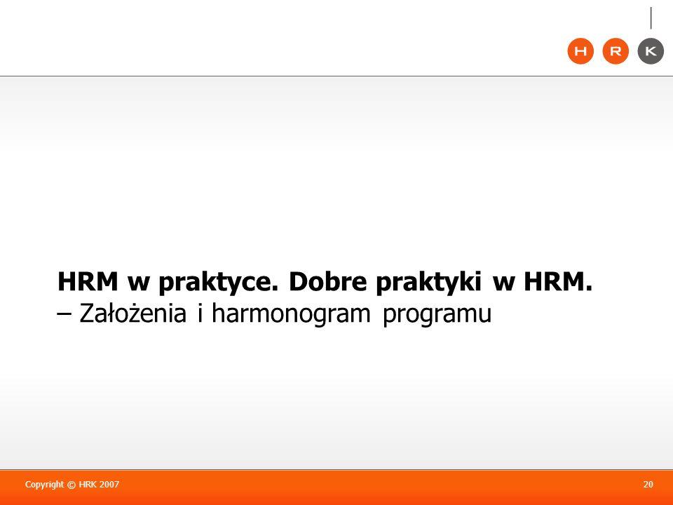 HRM w praktyce. Dobre praktyki w HRM
