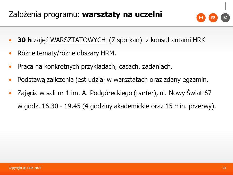 Założenia programu: warsztaty na uczelni