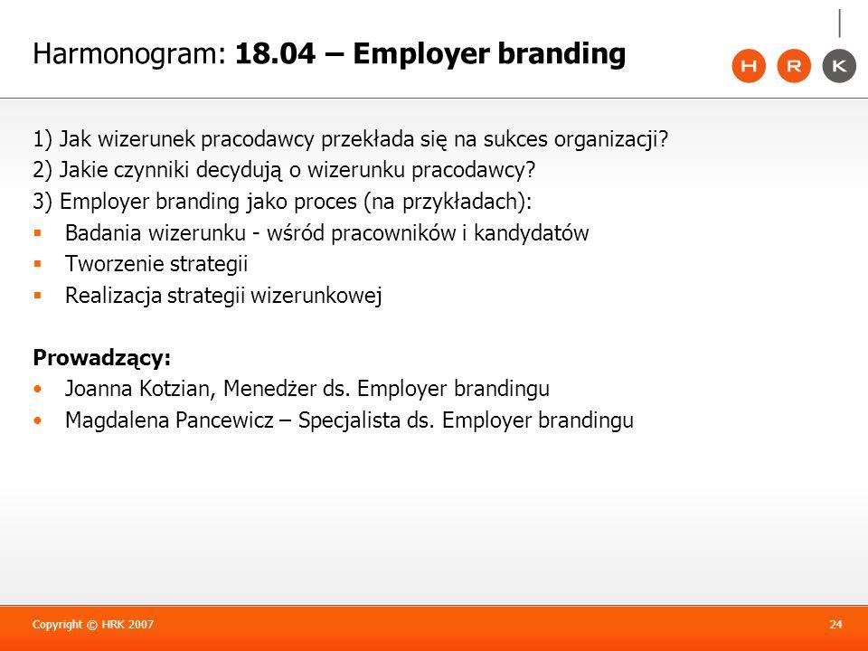 Harmonogram: 18.04 – Employer branding