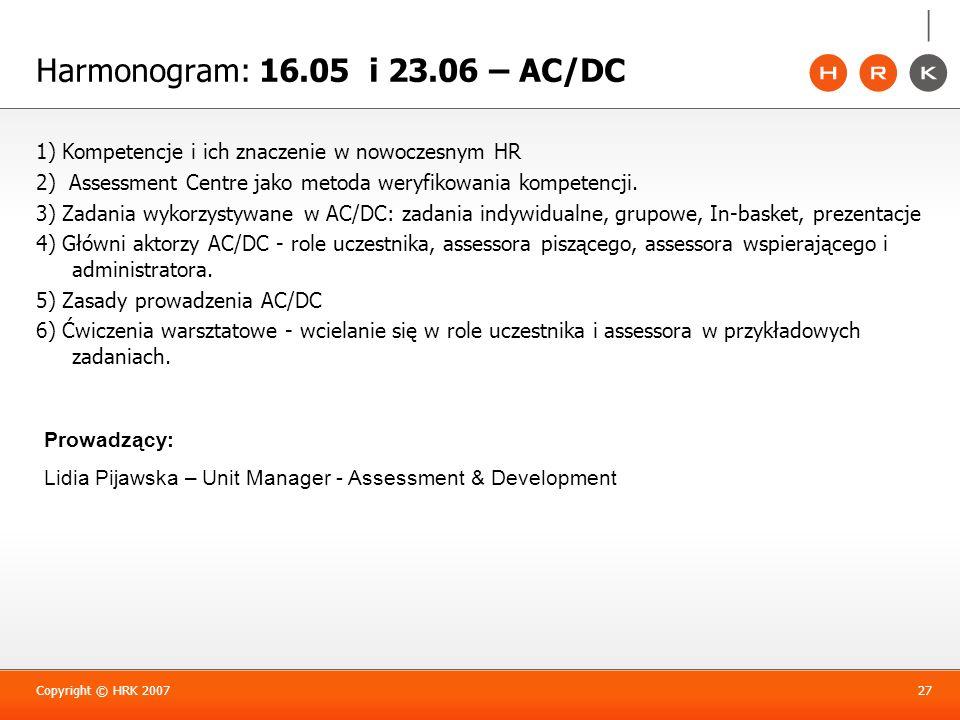 Harmonogram: 16.05 i 23.06 – AC/DC