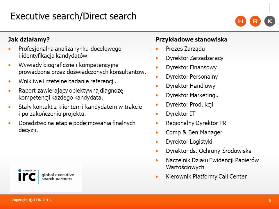 Executive search/Direct search