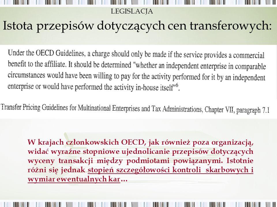 Istota przepisów dotyczących cen transferowych: