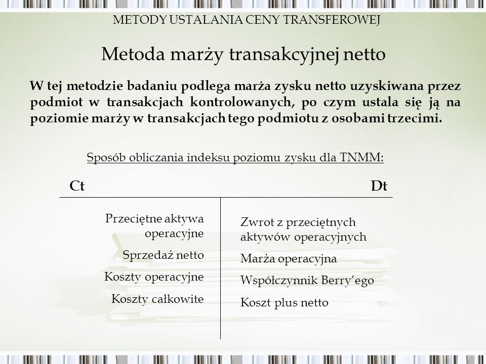 Metoda marży transakcyjnej netto