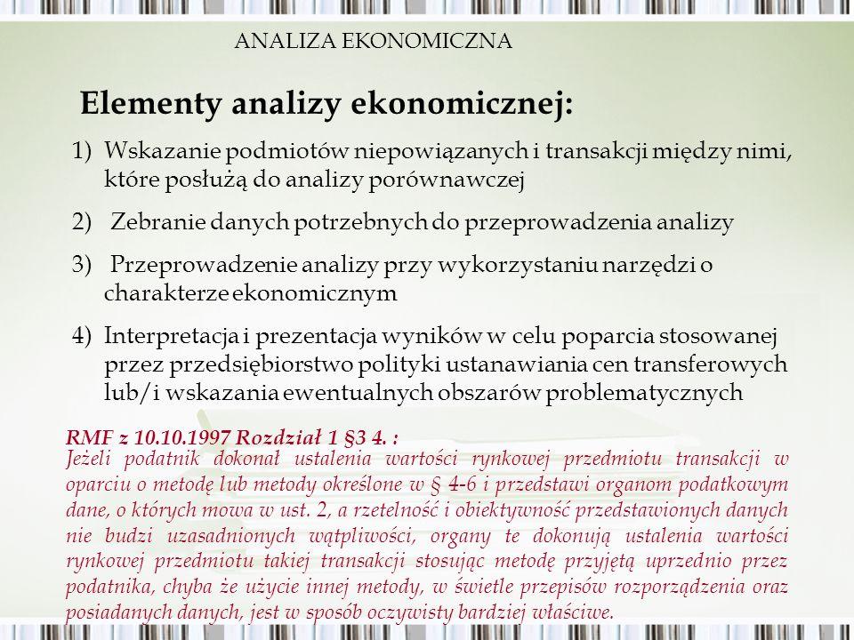 Elementy analizy ekonomicznej: