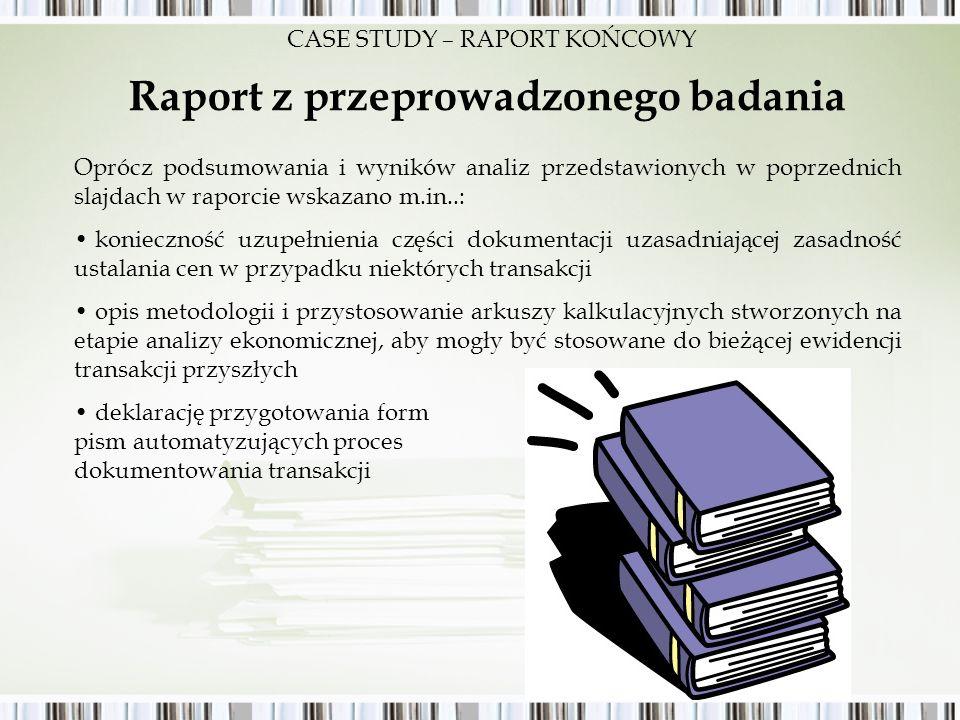 Raport z przeprowadzonego badania