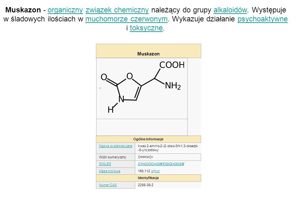Muskazon - organiczny związek chemiczny należący do grupy alkaloidów