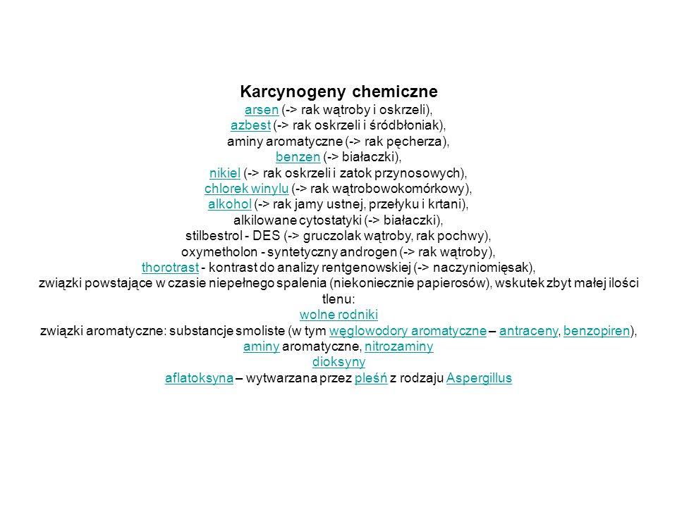 Karcynogeny chemiczne