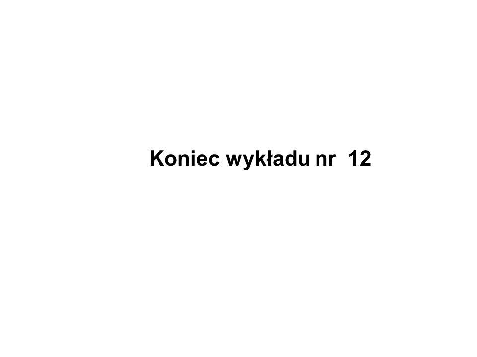 Koniec wykładu nr 12