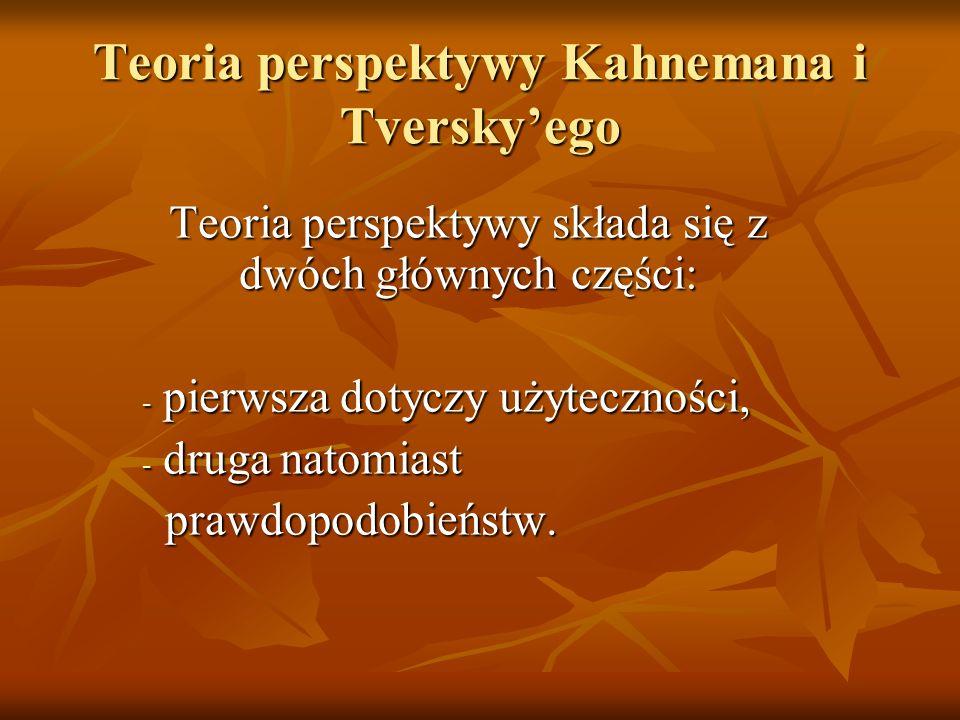 Teoria perspektywy Kahnemana i Tversky'ego