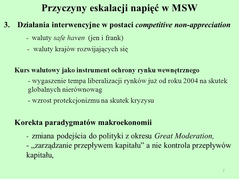 Przyczyny eskalacji napięć w MSW