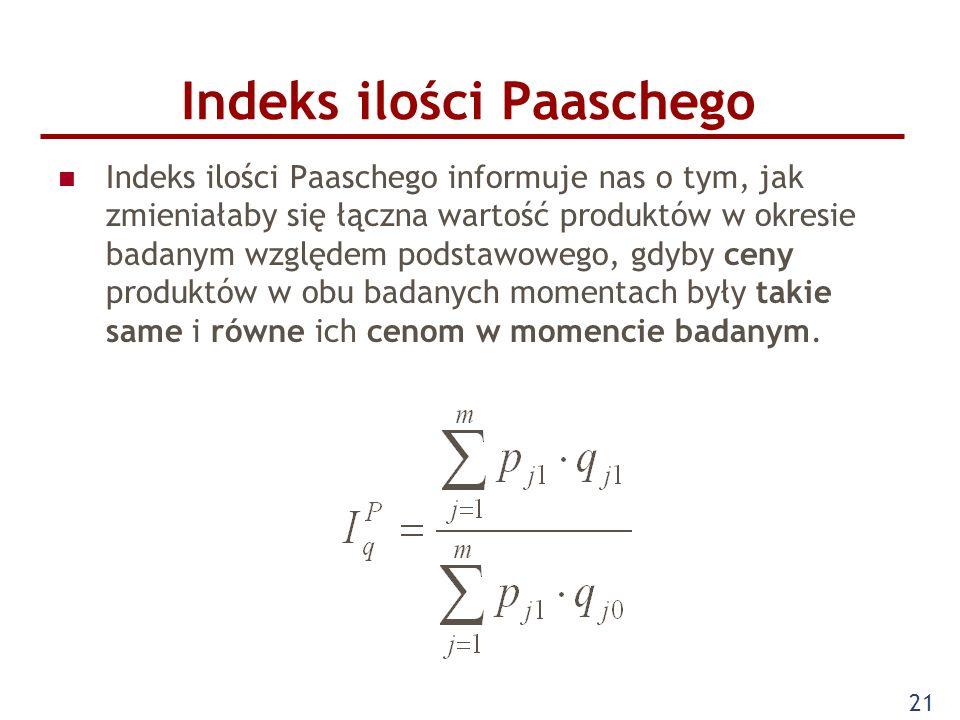 Indeks ilości Paaschego