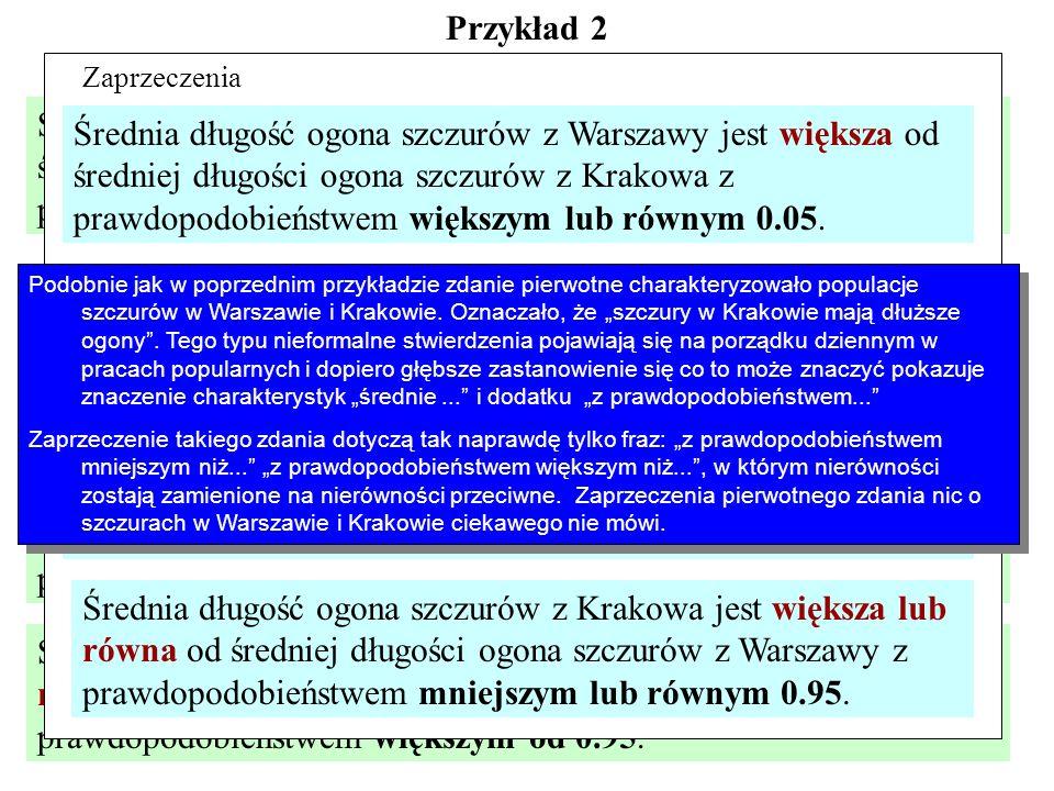 Przykład 2 Ktoś złowił 15 szczurów w Warszawie i 17 w Krakowie i napisał:
