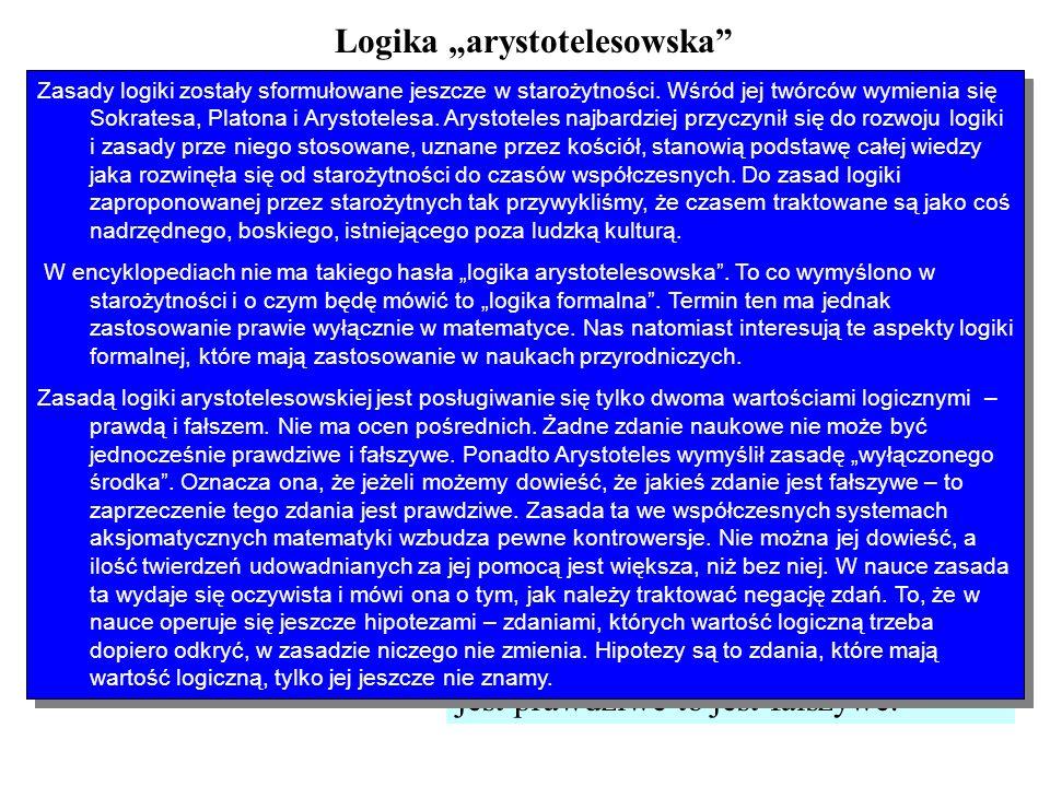 "Logika ""arystotelesowska"