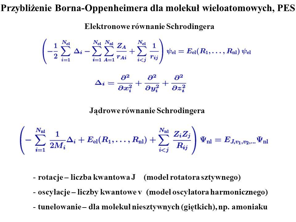 Przybliżenie Borna-Oppenheimera dla molekuł wieloatomowych, PES
