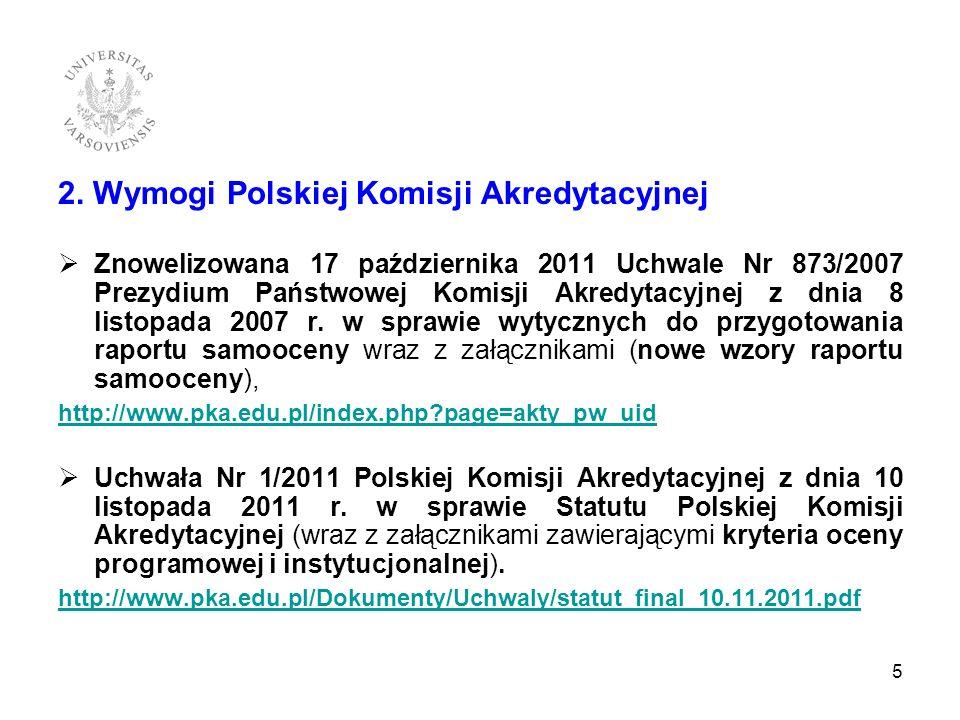 2. Wymogi Polskiej Komisji Akredytacyjnej