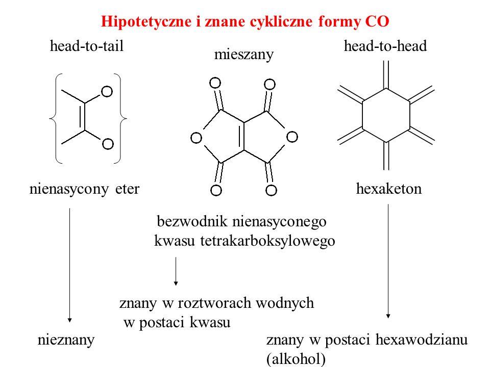 Hipotetyczne i znane cykliczne formy CO