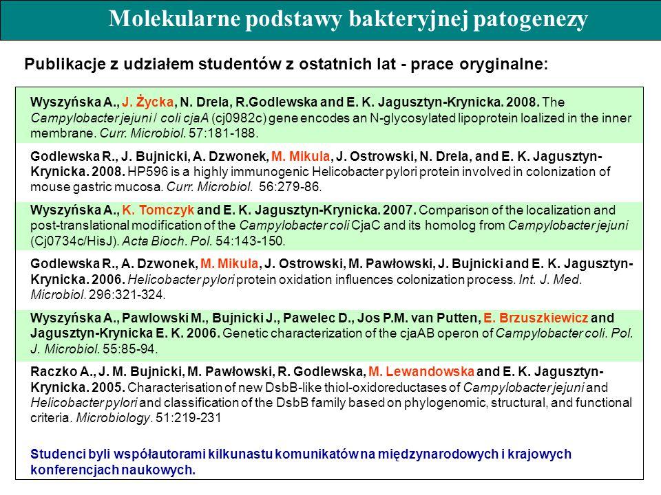 Molekularne podstawy bakteryjnej patogenezy