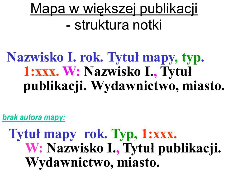Mapa w większej publikacji - struktura notki