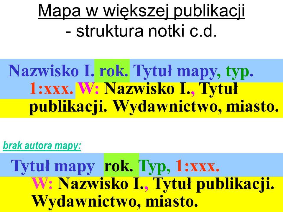 Mapa w większej publikacji - struktura notki c.d.