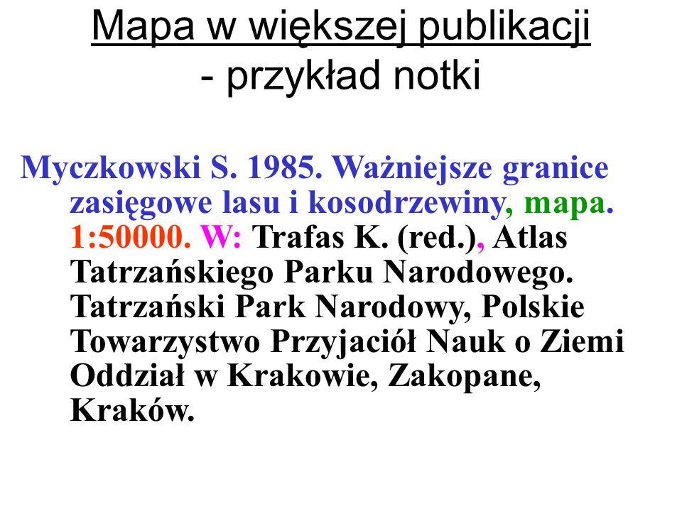 Mapa w większej publikacji - przykład notki