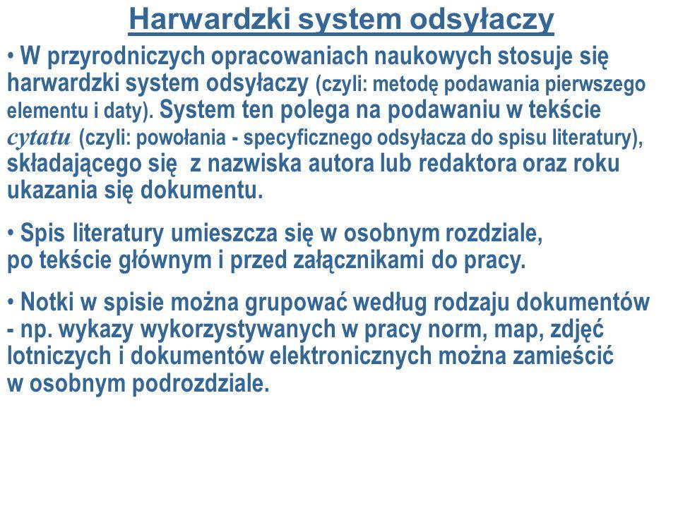 Harwardzki system odsyłaczy