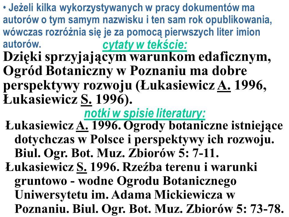 notki w spisie literatury: