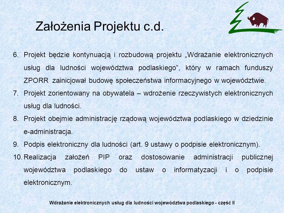 Założenia Projektu c.d.