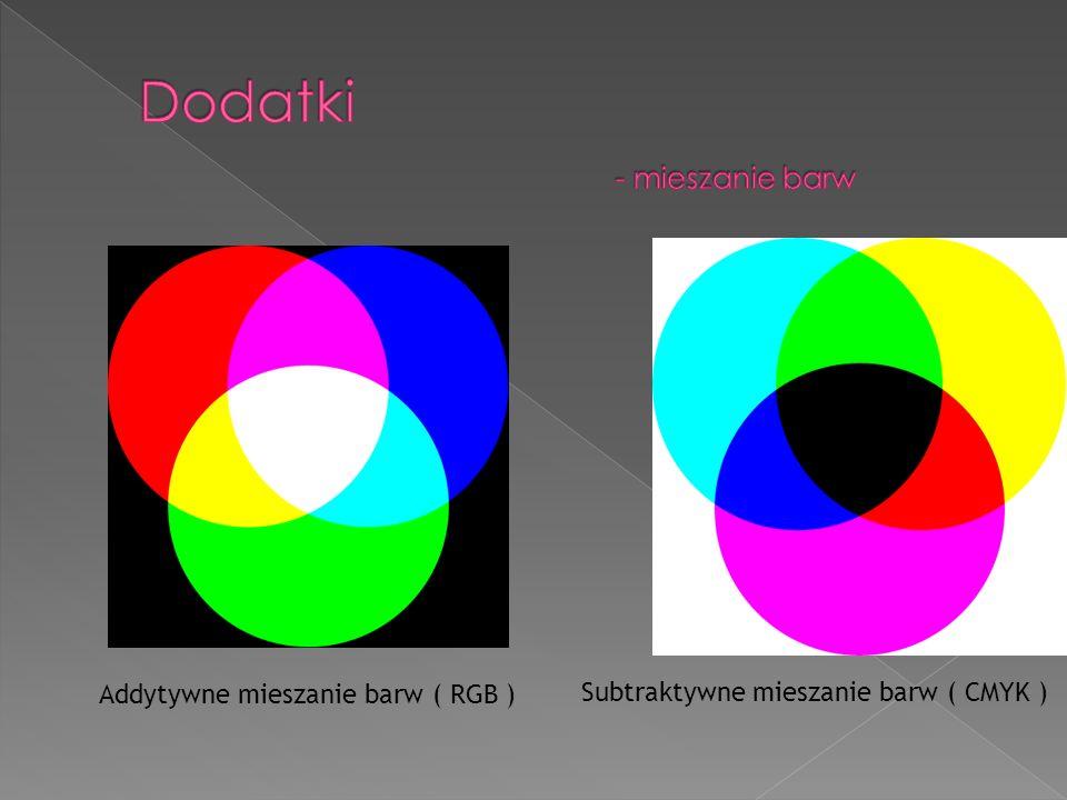 Dodatki - mieszanie barw
