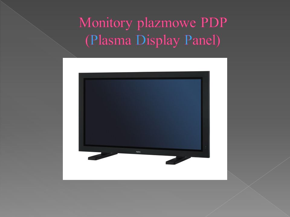 Monitory plazmowe PDP (Plasma Display Panel)