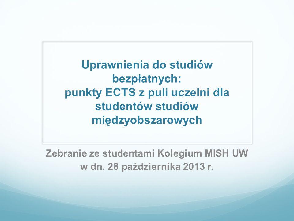 Zebranie ze studentami Kolegium MISH UW w dn. 28 października 2013 r.