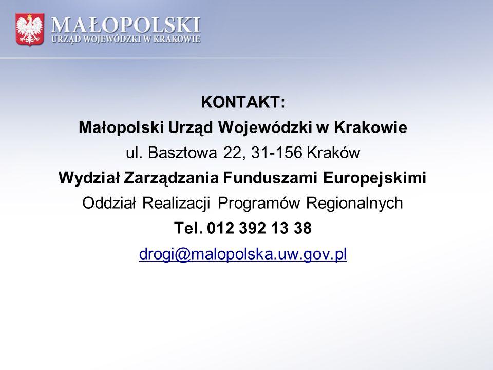 Małopolski Urząd Wojewódzki w Krakowie ul. Basztowa 22, 31-156 Kraków
